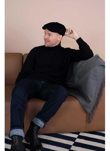Silk and Cashmere Şapka Siyah